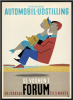 Plakat fra den Internationale Automobiludstilling i Forum 1950